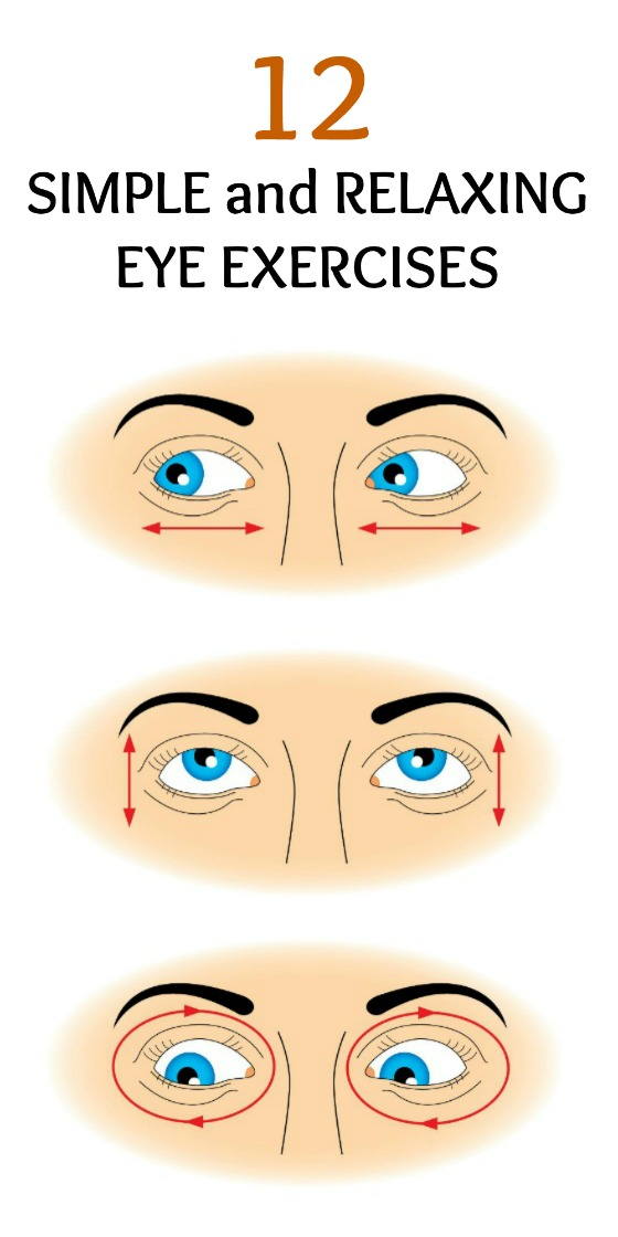 Eye exercising will keep your eyes healthy and help minimize eyestrain.