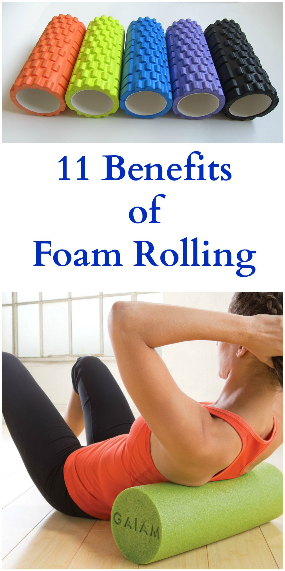 Foam rolling offers the same benefits of an intense sports massage without the huge price tag.