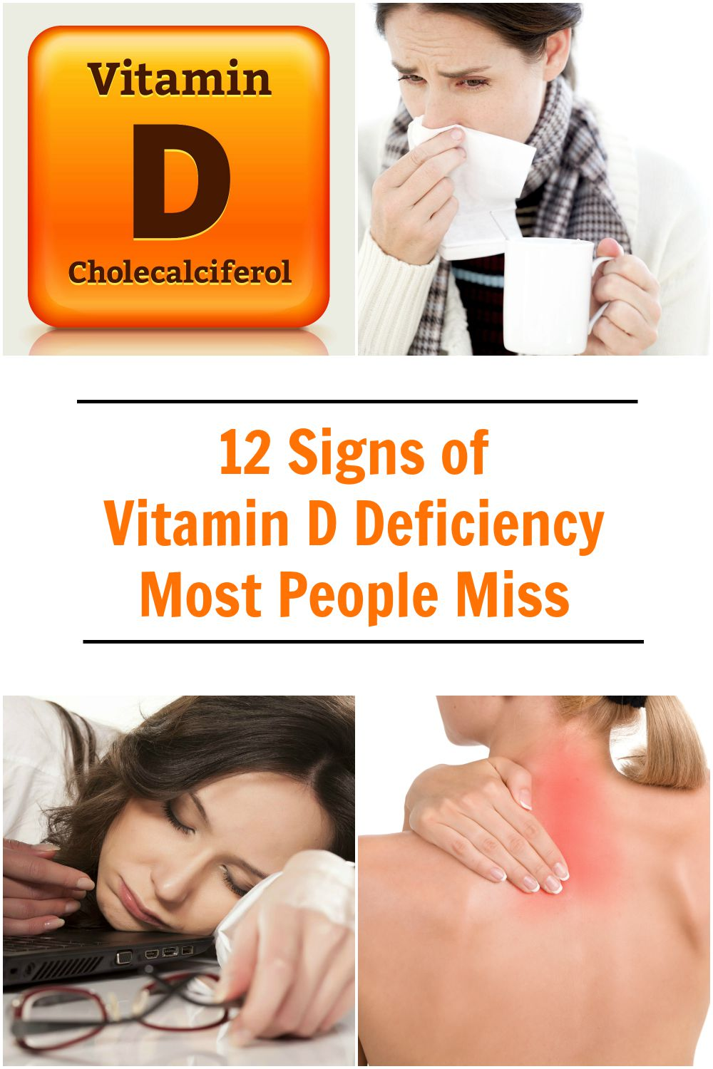 Vitamin D deficiency can result from inadequate exposure to sunlight; malabsorption; accelerated catabolism from certain medications; and, in infants, the minimal amount of vitamin D found in breast milk.
