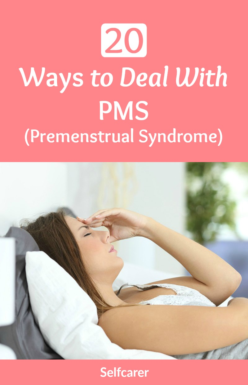 Premenstrual syndrome (PMS) is a group of symptoms related to the menstrual cycle. There are many ways to deal with your PMS.